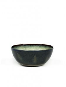 Serax Bowl, Mittel, Mistey Grey / Dark Blue