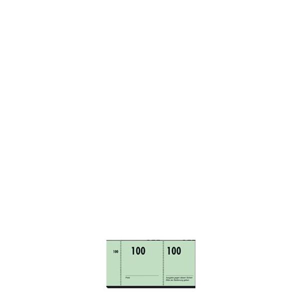 Garderobenummernblock 100 Blatt