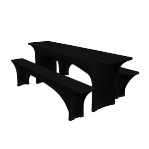 stretchhusse schwarz f r brauereibank hussen tischw sche servicematerial profimiet shop k ln. Black Bedroom Furniture Sets. Home Design Ideas