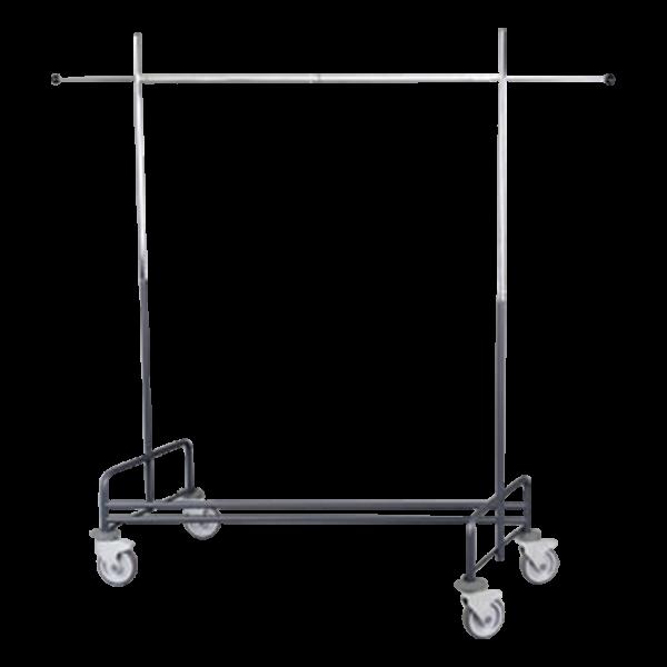 Garderobenständer DeLuxe rollbar 176x60cm