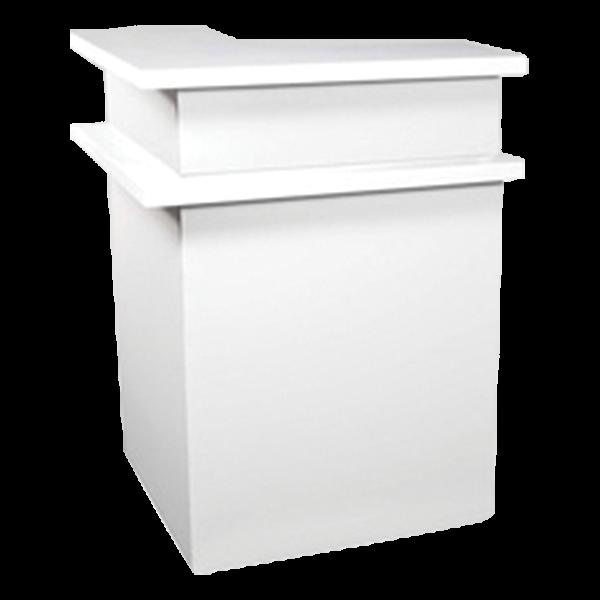 Bar-Eckelement Davos weiß 84x84x113 cm